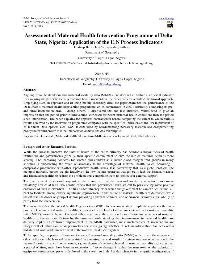 Public Policy and Administration Research ISSN 2224-5731(Paper) ISSN 2225-0972(Online) Vol.3, No.9, 2013  www.iiste.org  A...