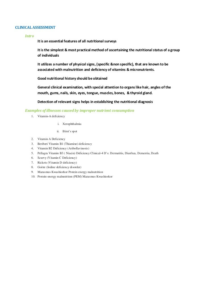 Clinical Assesment Custom Paper Sample