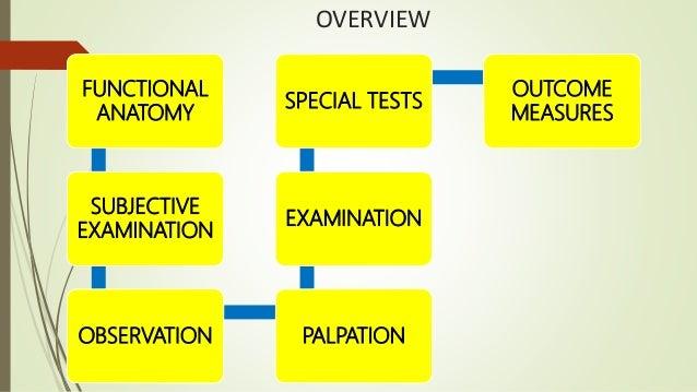 Assessment of shoulder