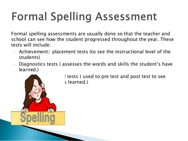 Assessment Of Spelling Skills