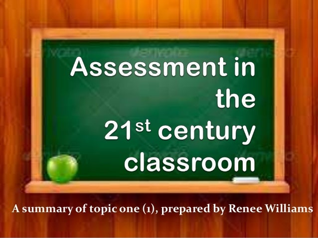 A summary of topic one (1), prepared by Renee Williams