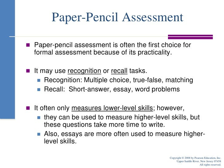 formal and informal assessments: advantages and disadvantages essay Assessments can be formal or informal formal assessments are used for  two advantages of each formal  two disadvantages of each formal.