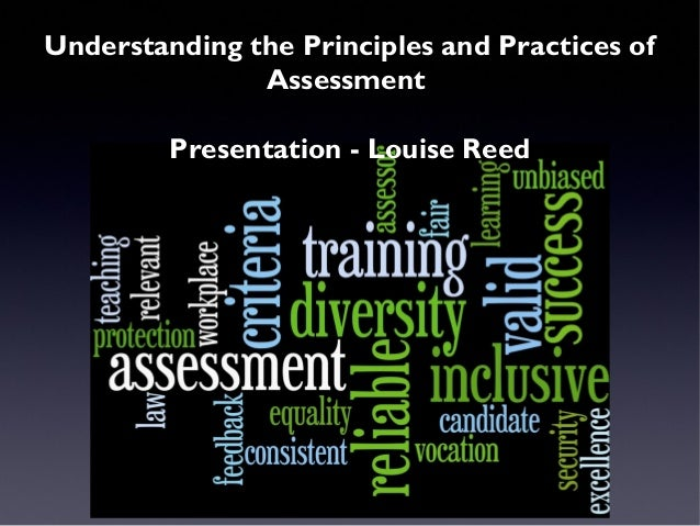 understanding the principles and practices of assessment essay Uv30563 understanding the principles and practices of assessment the aim of this unit is to develop your knowledge and understanding of the principles and practices of.