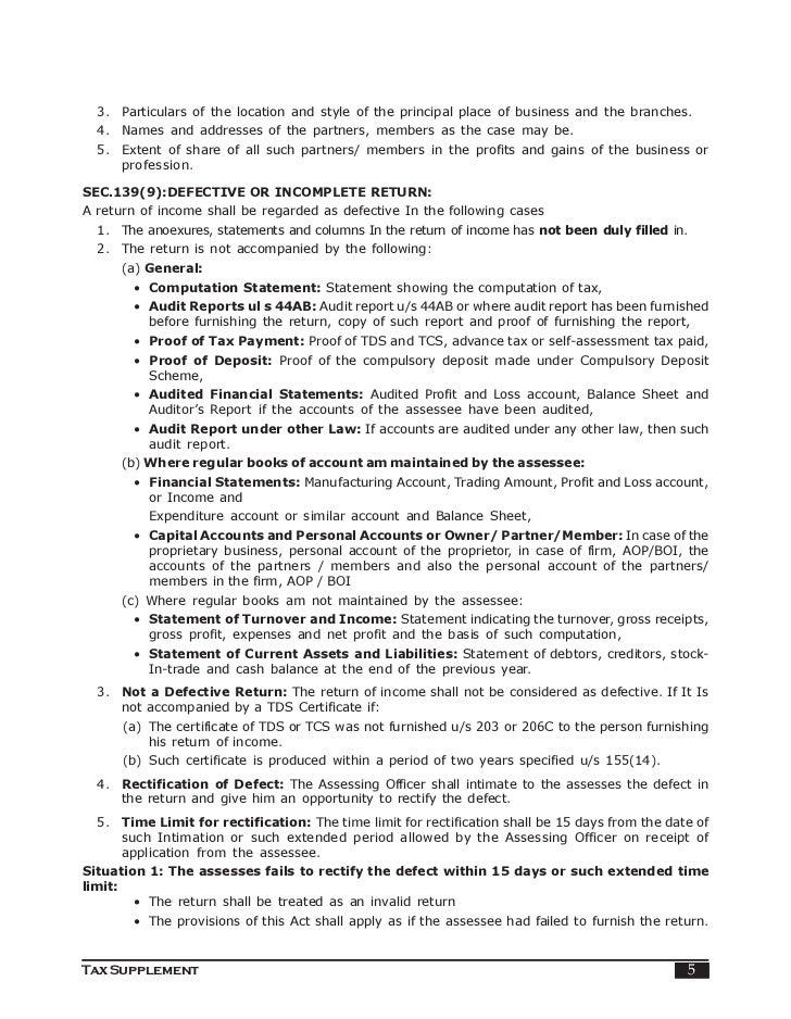 Assessment procedure indian income tax 4 tax supplement 5 spiritdancerdesigns Images