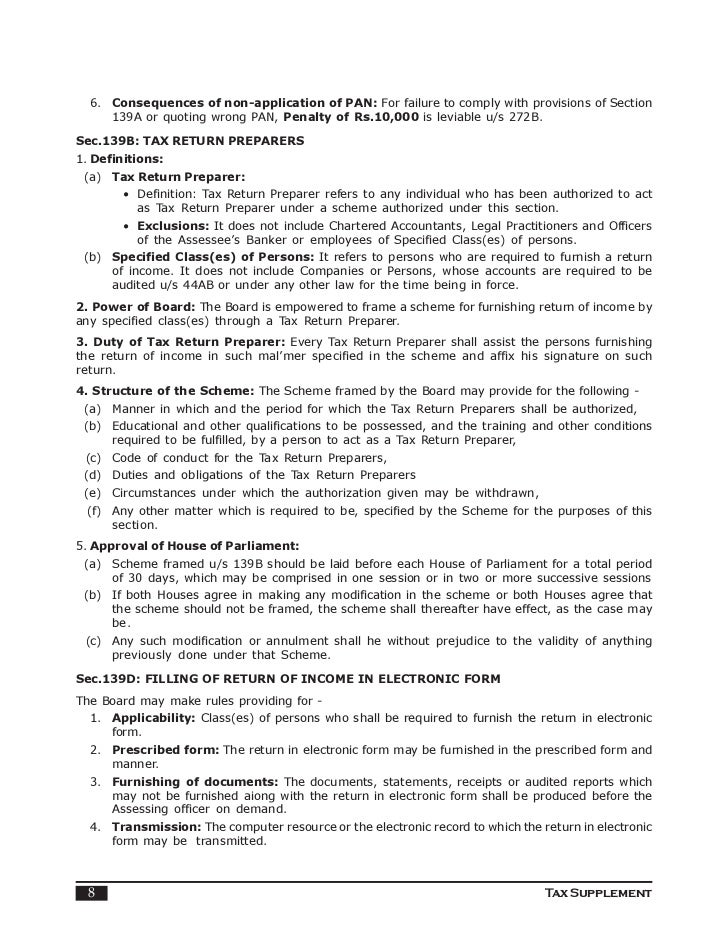 Assessment procedure indian income tax tax supplement 7 8 spiritdancerdesigns Images