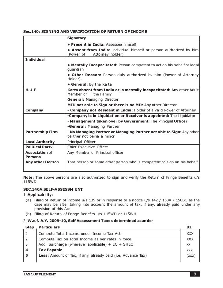 Assessment procedure indian income tax 8 tax supplement 9 spiritdancerdesigns Gallery