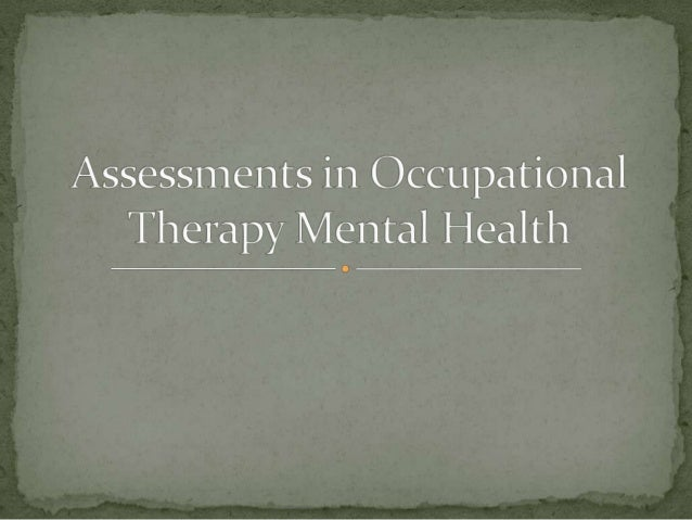 mental wellbeing circumstance learn occupational therapy