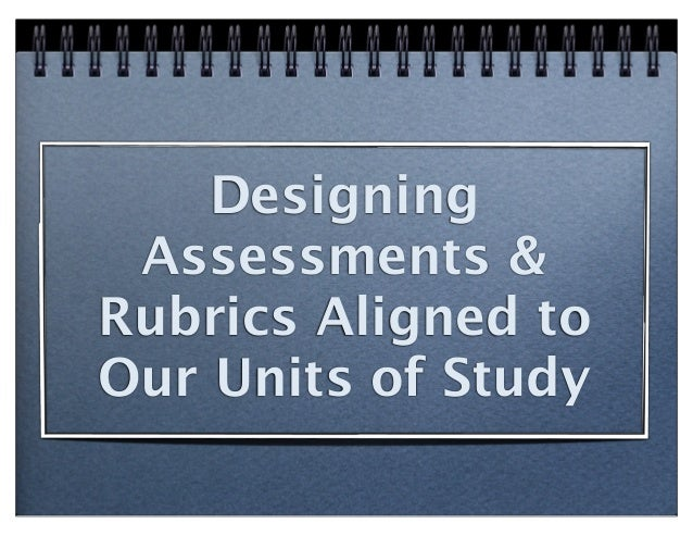 Designing Assessments &Rubrics Aligned toOur Units of Study