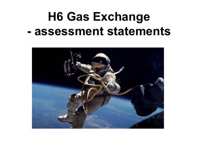 H6 Gas Exchange - assessment statements