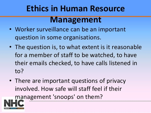 human resources code of ethics