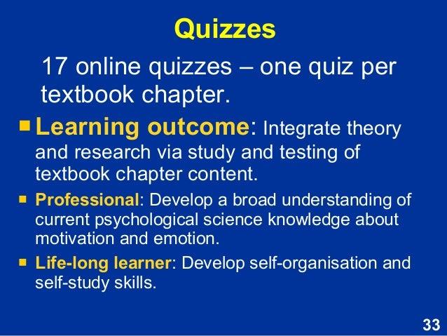 Motivation and Emotion - Assessment task skills