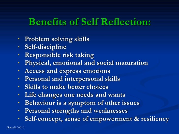 self discovery artifact reflection One place to start would be through engagement with the traditions of thought and critical self-reflection  self-discovery during  an artifact and.