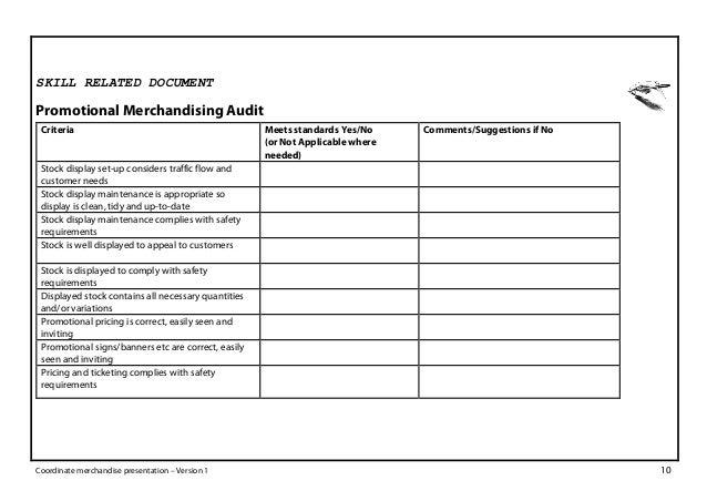 Assessment tool coordinate merchandise presentation india sample – Sample Presentation Evaluation