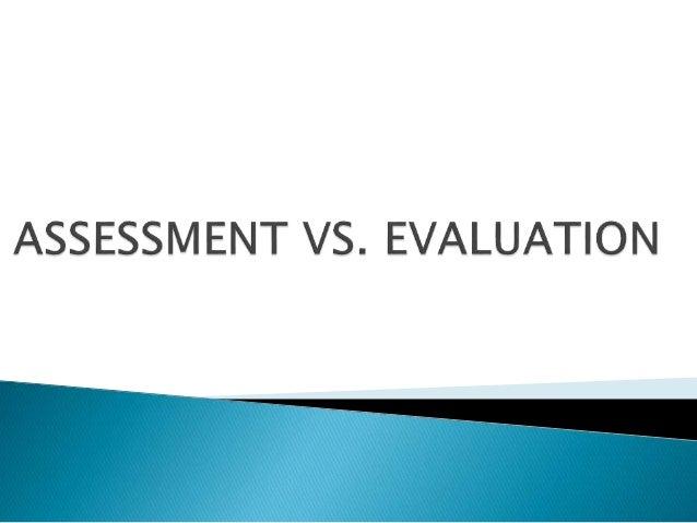assessment of learning vs assessment for learning pdf