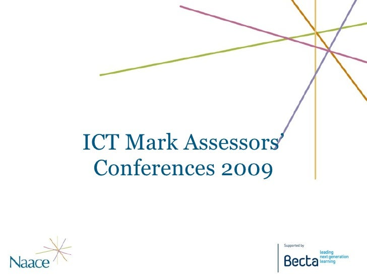 ICT Mark Assessors' Conferences 2009