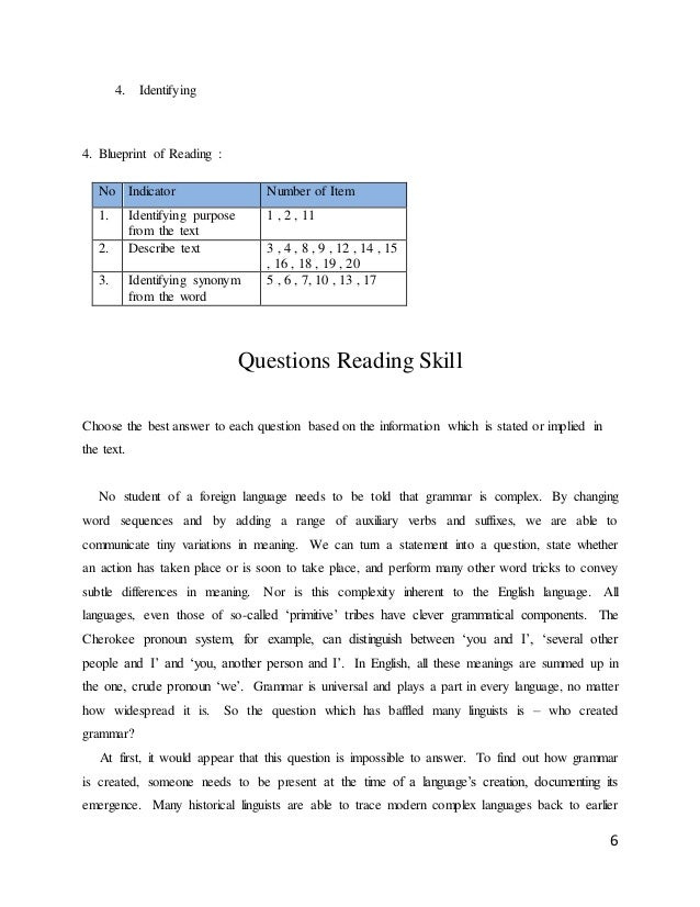 Assestment in english skill describe text 6 malvernweather Image collections