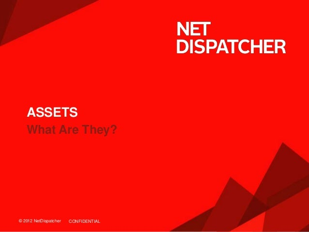 © 2012 NetDispatcher© 2012 NetDispatcher What Are They? ASSETS CONFIDENTIAL