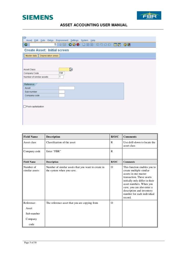 SAP FI Asset Accounting Tutorial