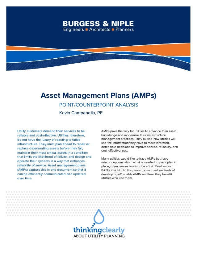 Asset management pointcounterpoint analysis asset management plans amps pointcounterpoint analysis kevin campanella pe utility customers publicscrutiny Gallery