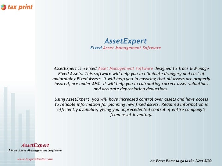 AssetExpert                                               Fixed Asset Management Software                         AssetExp...