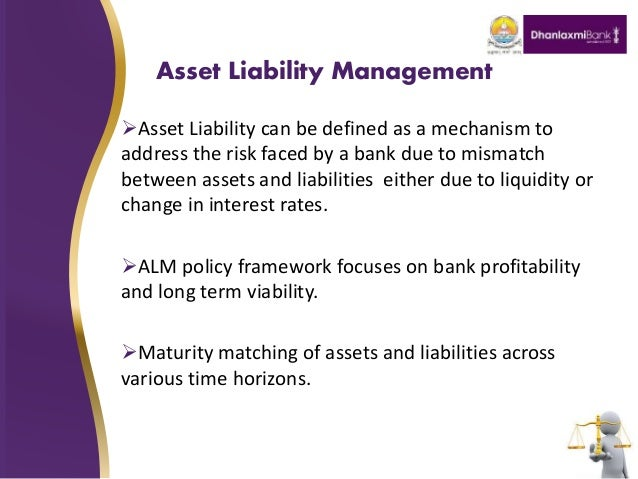 assets and liability management The article presents methods and strategies of asset and liability management in  commercial banks as well as their comparative analysis it is very important for.