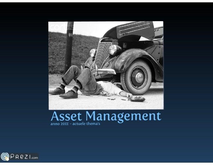 Asset management - Theme's in 2011 according to Capgemini cluster SAP EAM