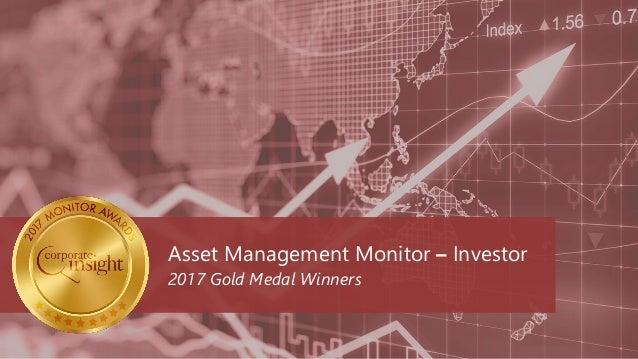 Asset Management Monitor – Investor 2017 Gold Medal Winners