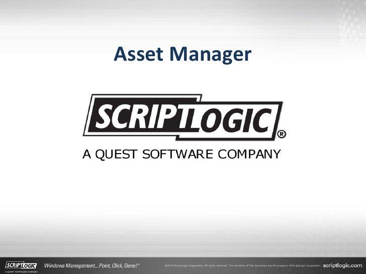 Asset Manager<br />
