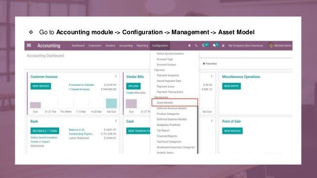 ❖ Go to Accounting module -> Configuration -> Management -> Asset Model