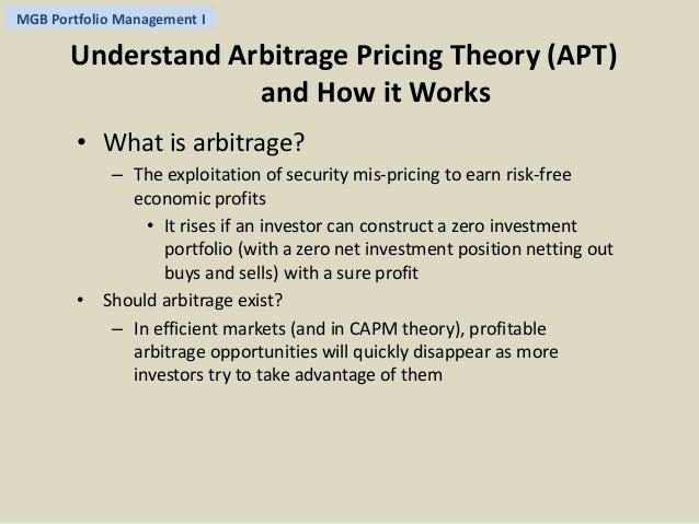 Mcq arbitrage pricing theiry