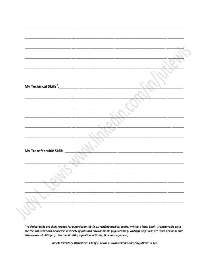 job readiness worksheets