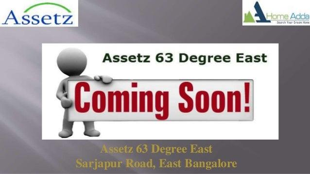 Assetz 63 Degree East Sarjapur Road, East Bangalore