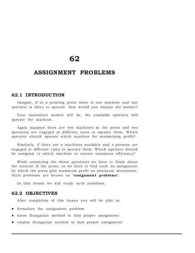 hungarian assignment algorithm