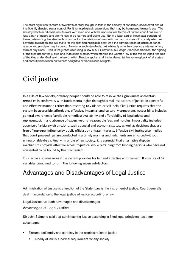 civil law system advantages and disadvantages