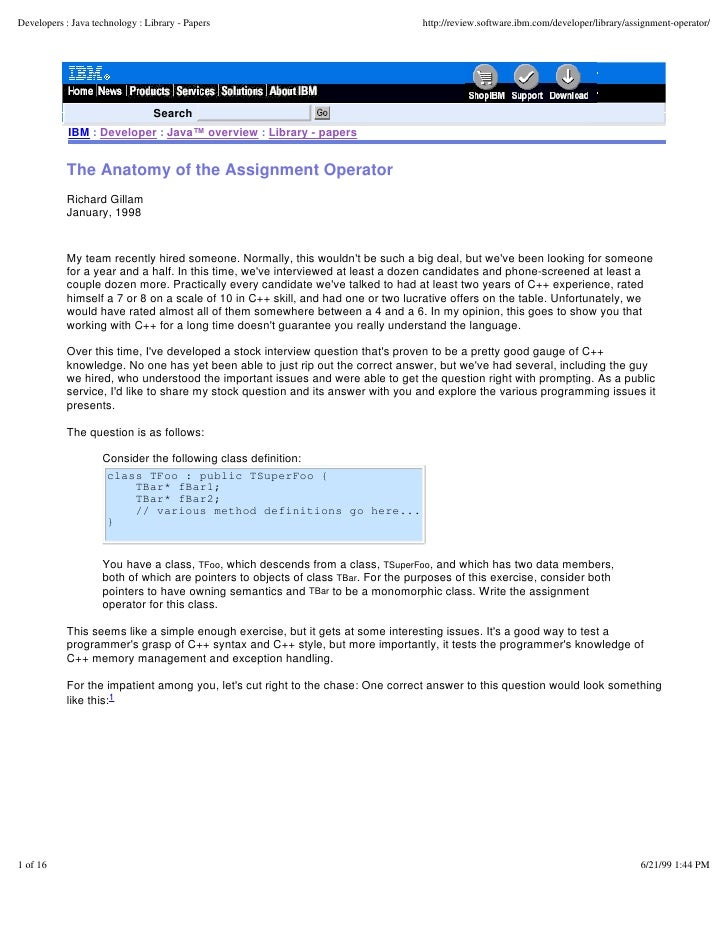 Developers : Java technology : Library - Papers                                    http://review.software.ibm.com/develope...
