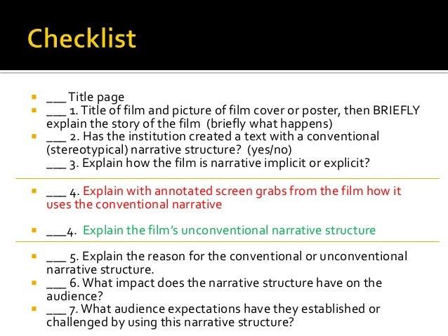 Explain how to analyze an entire movie essay