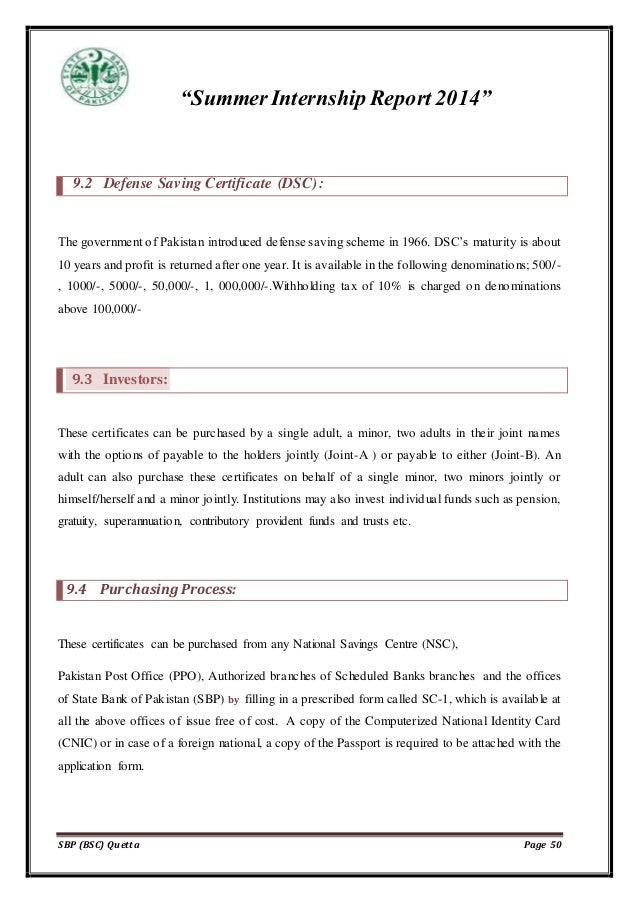 internship report on the Procedure Of prize bond management