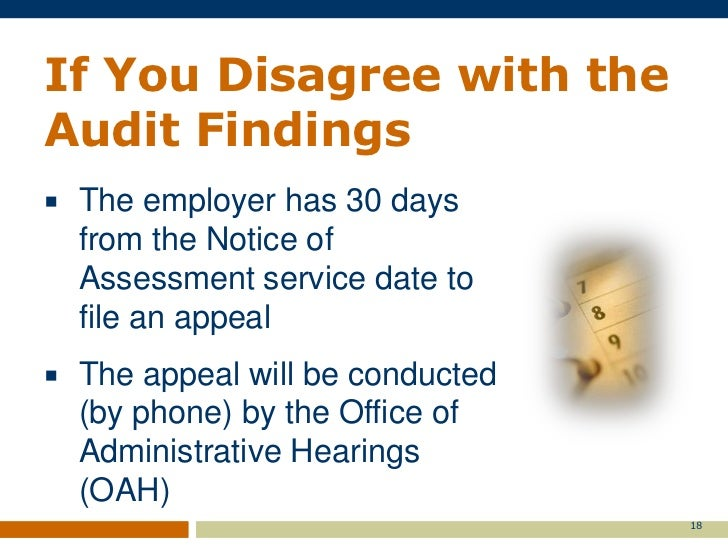 Assigning And Conducting Audits Employment Services