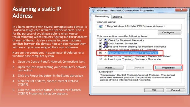 assigning a static ip address