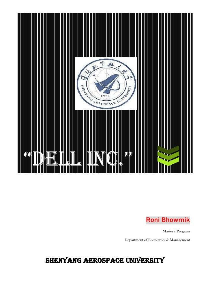 "SHENYANG AEROSPACE UNIVERSITY""DELL Inc.""                                       Roni Bhowmik                               ..."