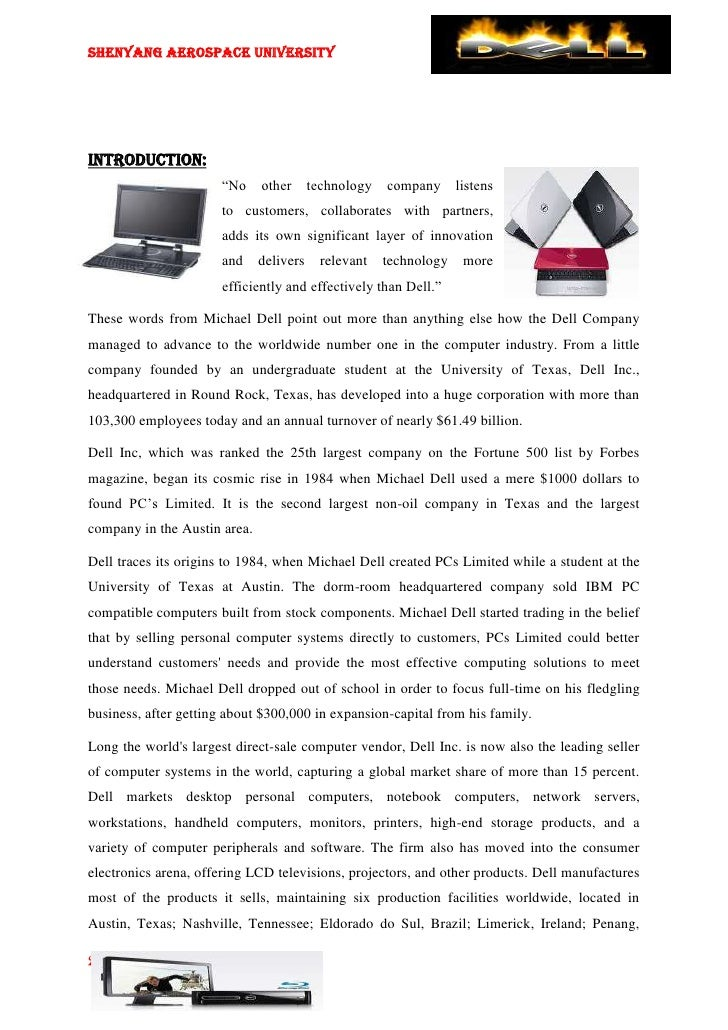 macro and micro environment al analysis of dell computer corporation Swot analysis of the dell computer corporation  this report highlights the micro-environments and macro-environments as they affect dell computer corporation in .