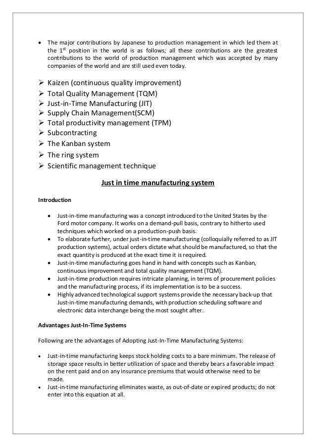 Japanese contribution to production operation management japanese production management and techniques 7 stopboris Choice Image