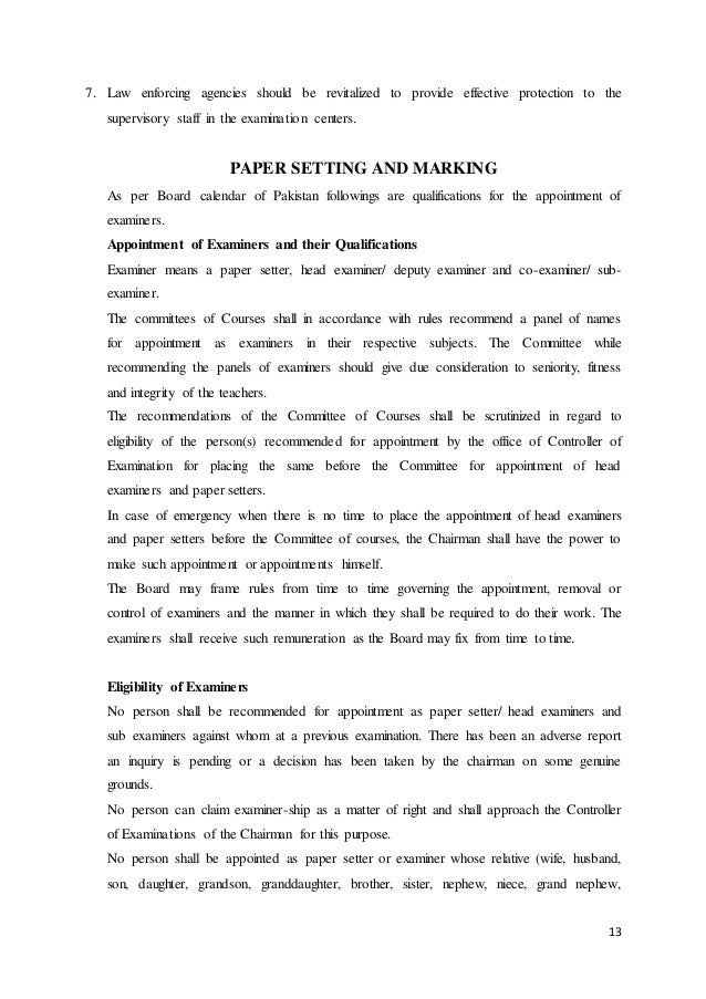 paper setter system term paper