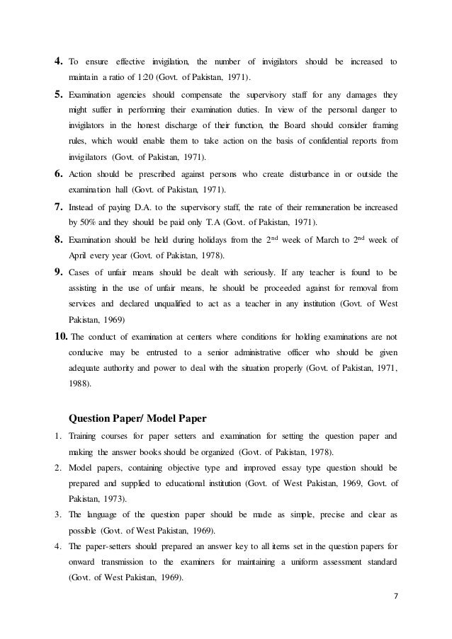 examination system in  7
