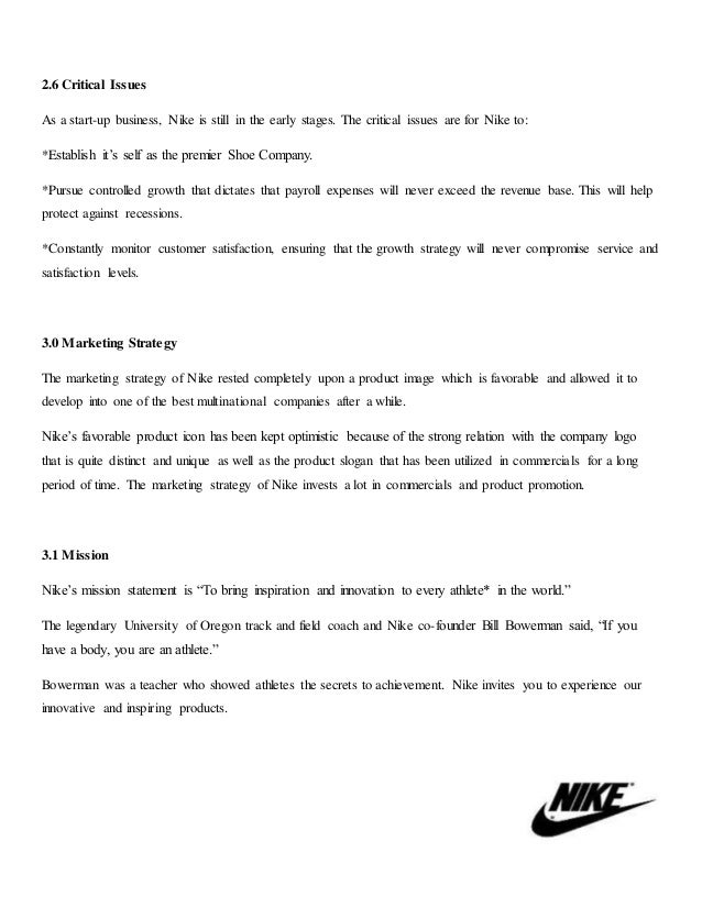 marketing objectives of a shoe company What are nike's aims and objectives a: the company also balances these profit-driven goals with a number nike is successful because of its marketing.