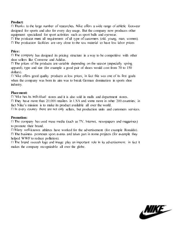 imc plan of nike shoes Nike's imc plan essay example  essay on imc nike a household phrase in this paper, we will look at the integrated marketing communication tactics (imc) used by.