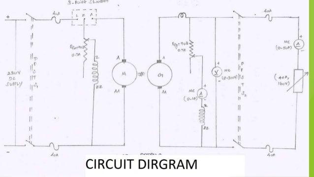 load test on dc compound generator (long shunt) Ulative Compound Generator Wiring Schematic on