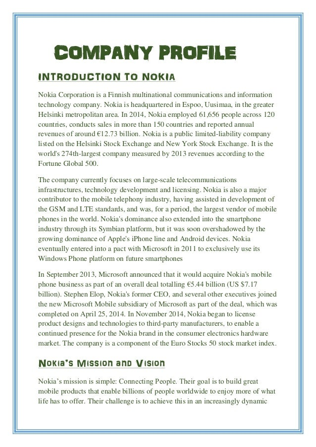multinational company nokia Nokia corporation is a finnish multinational communications and information technology company nokia is headquartered in espoo,.