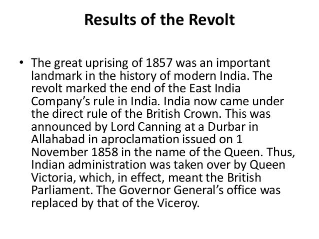 essay on revolt of 1857 in india Watch this video on sepoy mutiny aka revolt of 1857, the beginning of the india's freedom's struggle a movement that eventually led to independence.