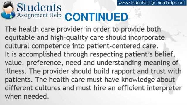 essay on patient centered care Free essay: nursing should focus on patient and family centered care, with  nurses being the patient advocate for the care the patient receives patient and.